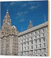 Liverpool's World Heritage Status Waterfront Buildings Wood Print