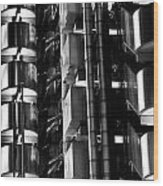 Lloyd's Building London Abstract  Wood Print