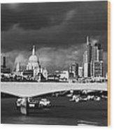 London  Skyline Waterloo  Bridge  Wood Print