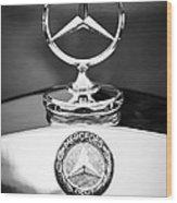 Mercedes-benz Hood Ornament Wood Print