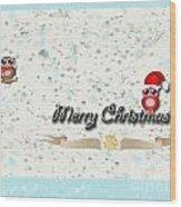 Christmas Card 29 Wood Print
