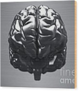 Metallic Brain Wood Print