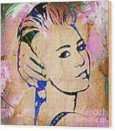 Miley Cyrus Collection Wood Print