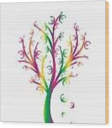 Money Tree Wood Print