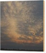 Nebraska Mammatus Sunset Wood Print