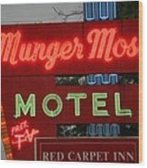 Route 66 - Munger Moss Motel Wood Print