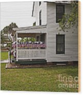 Ryckman House In Melbourne Beach Florida Wood Print by Allan  Hughes