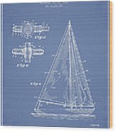 Sailboat Patent Drawing From 1938 Wood Print