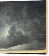 Severe Warned Nebraska Storm Cells Wood Print