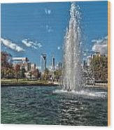 Skyline Of Uptown Charlotte North Carolina Wood Print