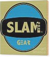 Slam One Gear Wood Print