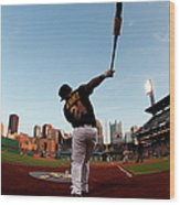 St Louis Cardinals V Pittsburgh Pirates Wood Print