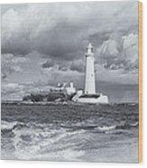 St Marys Lighthouse Wood Print
