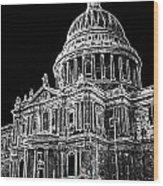 St Pauls Cathedral London Art Wood Print