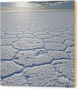sunrise at Salar de Uyuni worlds largest salt lake Bolivia Wood Print