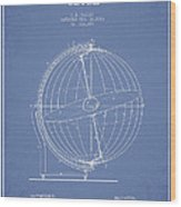 Terrestro Sidereal Globe Patent Drawing From 1886 Wood Print