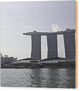 The Artscience Musuem And The Marina Bay Sands Resort In Singapore Wood Print