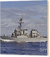 The Guided-missile Destroyer Uss Wood Print