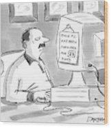 New Yorker June 27th, 2005 Wood Print