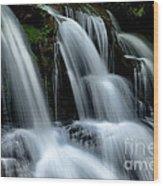 West Virginia Waterfall  Wood Print