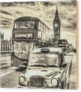Westminster Bridge London Wood Print