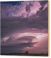 Wicked Good Nebraska Supercell Wood Print