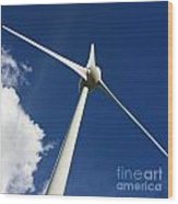 Wind Turbine Wood Print