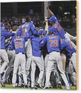 World Series - Chicago Cubs V Cleveland 9 Wood Print
