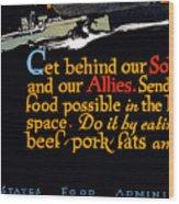 Wwi Food Supply, 1917 Wood Print