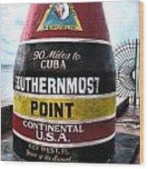 90 Miles To Cuba Wood Print