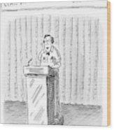 Rodney Krebs: Class Valedictorian Or G.p.a. Whore? Wood Print