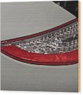 911 Taillight Wood Print