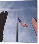 911 Tribute At Winslow Arizona Wood Print