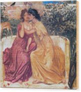 Sappho And Erinna In A Garden Wood Print