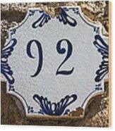 92 Wood Print
