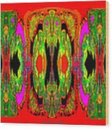 922 - A Psychedelic View ... Wood Print