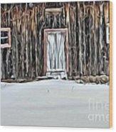 9318 Wood Print