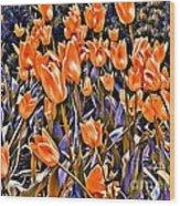9344 Wood Print