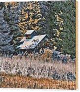 9377 Wood Print