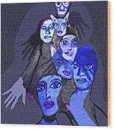 957 - Boom Doom Hallucination   Wood Print by Irmgard Schoendorf Welch