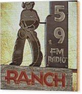 95.9 The Ranch Wood Print
