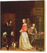 The Suitors Visit Wood Print