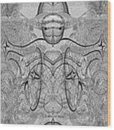 989 - Giant Creature Fractal ... Wood Print