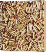9mm Brass Ammo Wood Print