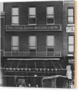 A & P Store, 1890s Wood Print