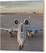 A-10 Wood Print