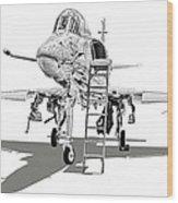 Ta-4j Skyhawk Wood Print