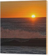 A Amazeing Sun Set Wood Print