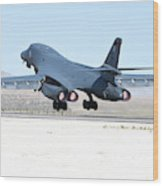 A B-1b Lancer From 28th Bomb Wing Wood Print