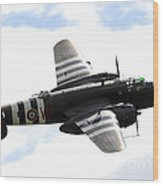A B-25 Mitchell Performs At The Arctic Wood Print